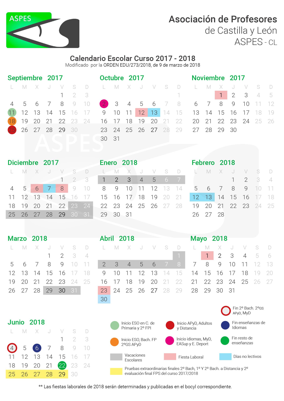 Calendario Escolar Valladolid.Calendario Escolar